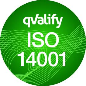 Certifikat gällanade kvalitet ISO 14001